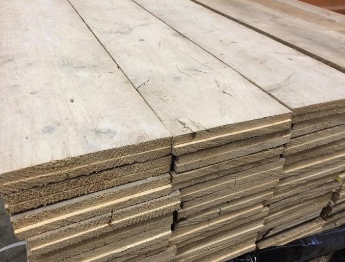 Steigerhout gebruikt gedoubleerd